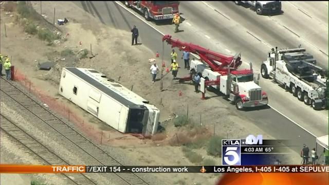 Investigation Continues Into Tour Bus Crash on 210 Freeway