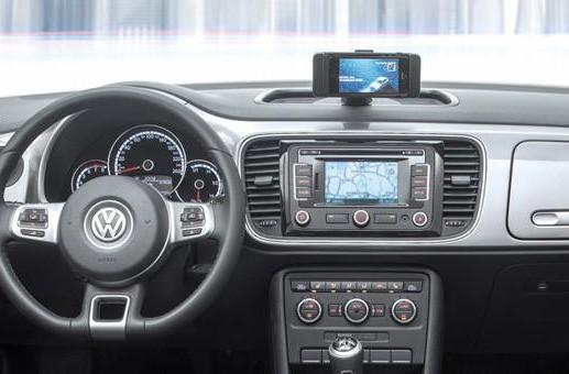 Volkswagen iBeetle integrates the iPhone through a dock, an app... and that's it