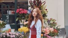 韓國女藝人 具荷拉義大利米蘭街頭拍時裝寫真