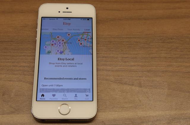 Etsy's mobile apps now let you find local sellers and events