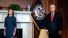 McConnell shields Judge Amy Coney Barrett from questions about election outcome as she meets with senators