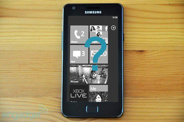 Strange clues hint at a new Samsung Galaxy S II running Windows Phone 7