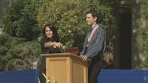 Non-verbal teen with autism gives graduation commencement address at school