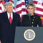 Melania Trump gives farewell speech on her last morning as first lady