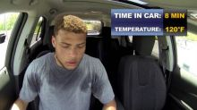 Video: NFL star shows just how hot parked cars can get