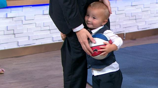 Titus, 2-Year-Old, Basketball Ace Shows Off Skills