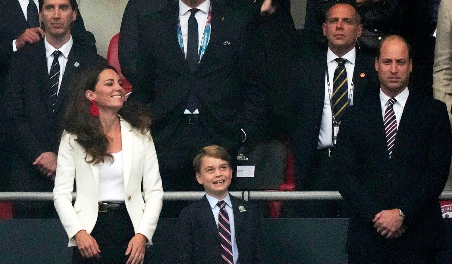 Prince George Joins Dad Prince William to Cheer on England's Soccer Team in Euro 2020 Final