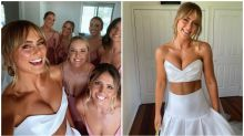Influencer hits back at 'unfair' criticism of her two-piece dress