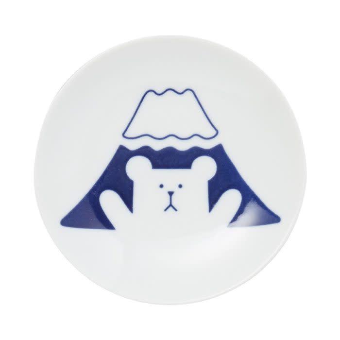 宇宙人富士山熊有田燒盤