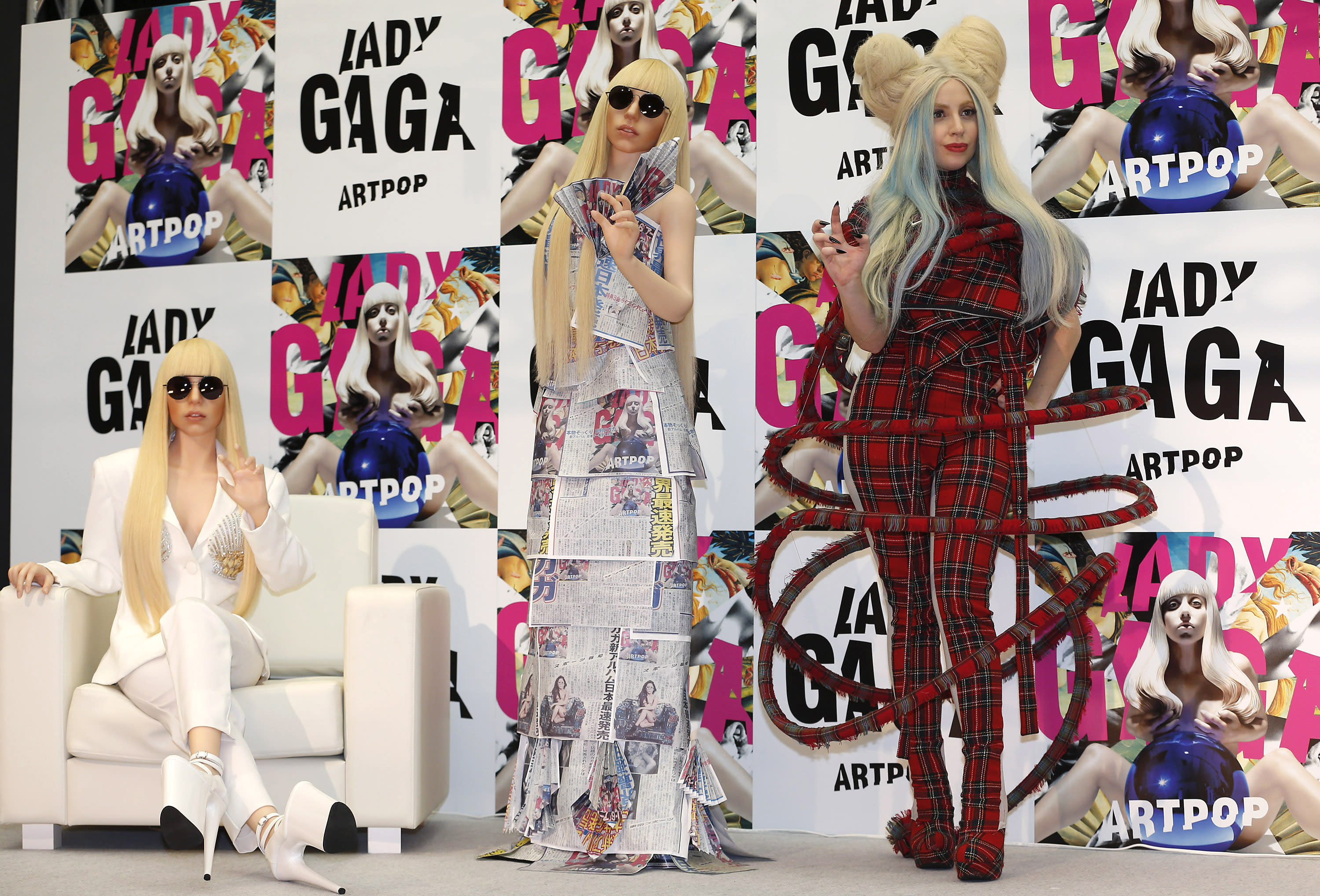 Lady Gaga Appears To Channel Billie Eilish In Blue Hair And Bling As She Unwinds