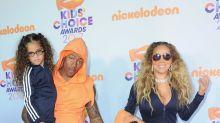 Muy coordinados Mariah Carey y Nick Cannon