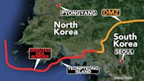 North Korea and South Korea exchange rounds at sea