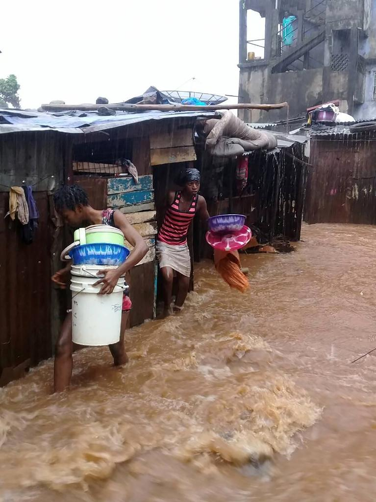 At least 300 people have been killed in the flooding and mudslides in Sierra Leone's capital Freetown (AFP Photo/STR)
