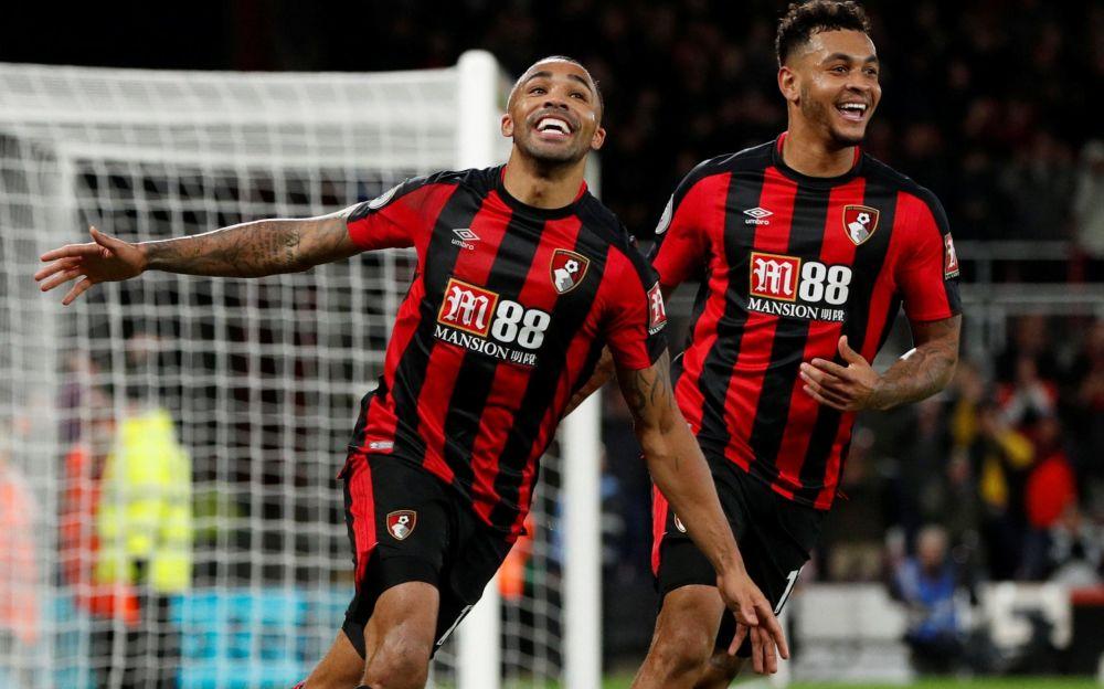 Callum Wilson celebrates scoring for Bournemouth - Action Images via Reuters