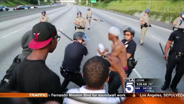 LAPD Cmdr. Explains Use of Force in Zimmerman Verdict Protests