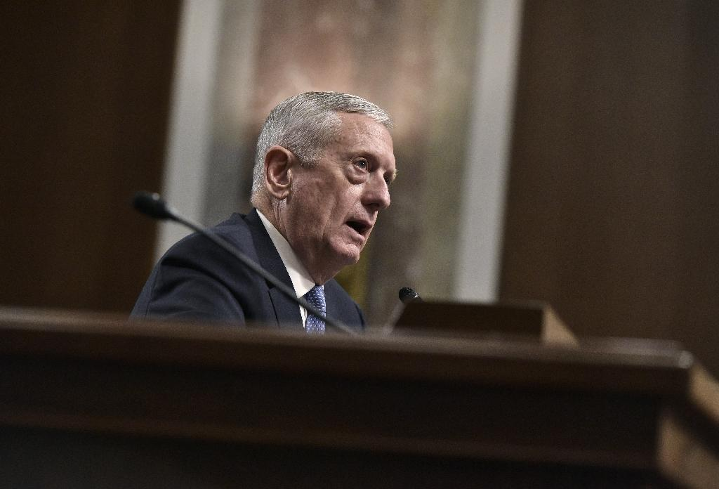 Retired Marine Corps general James Mattis testifies before the Senate Armed Services Committee on his nomination to be the next secretary of defense January 12, 2017 (AFP Photo/Mandel Ngan)
