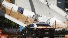 Pedestrian bridge collapses onto a busy Miami highway
