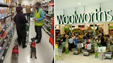 Woolworths shopper with dogs in store sparks debate