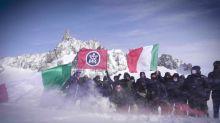 CasaPound su Monte Bianco per rivendicare confini 'scippati'