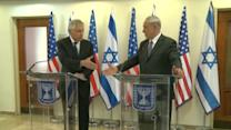 Hagel reaffirms U.S support for curbing Iran's nuclear program