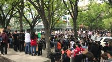 More than 1,000 Calgarians rally in solidarity with George Floyd protests in United States