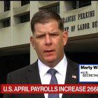 Labor Sec. Walsh Says U.S. Economy Still Has 'Steep Climb'