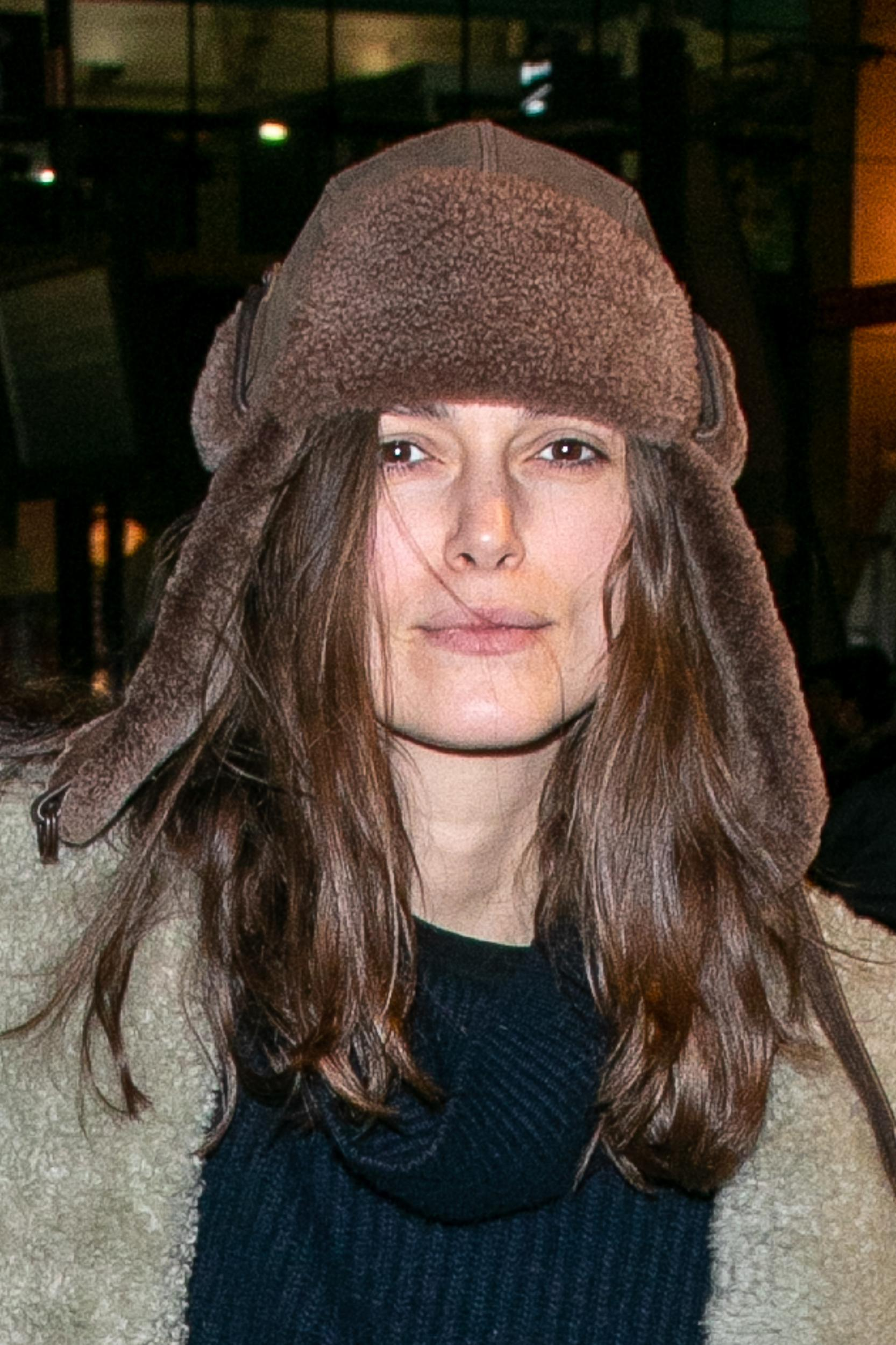 PARIS, FRANCE - JANUARY 09: Actress Keira Knightley is seen arriving at Gare du Nord station from London on January 09, 2019 in Paris, France. (Photo by Marc Piasecki/GC Images)