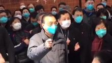 Chinese premier inspects Wuhan supermarket where the coronavirus allegedly originated