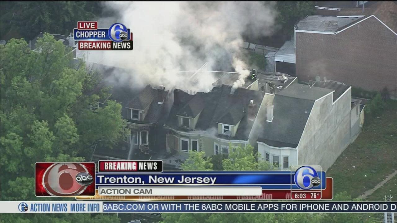 Multi-alarm fire damages homes in Trenton