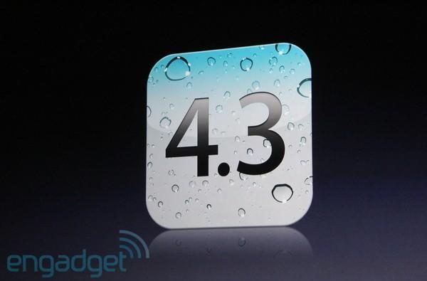 Apple iOS 4.3 coming March 11 with iPad 2, includes new AirPlay features and FaceTime