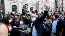 Espagne: manifestation à Barcelone après la destitution de Quim Torra