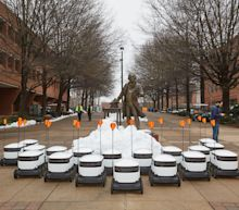 Starship deploys autonomous delivery bots on a college campus