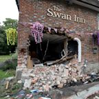 Landlord vows to reopen despite car smashing through pub hours before 'Super Saturday'