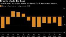 Deutsche Bank Vows to Reverse Revenue Slump, Defying Headwinds