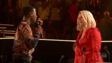 Security is called after 'The Four' contestant confronts Meghan Trainor