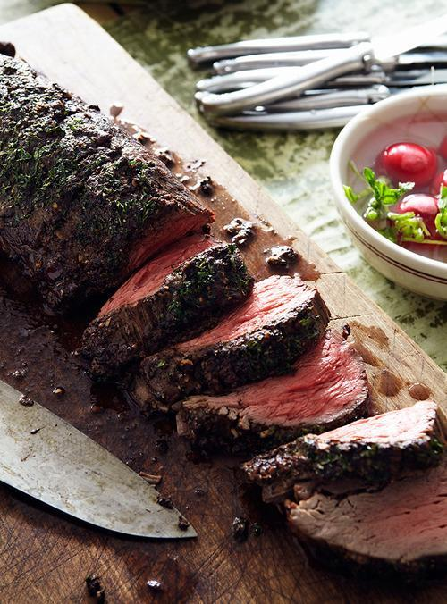 Mustard-Roasted Beef Tenderloin Recipe — Dishmaps