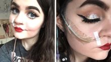 Aspiring makeup artist doesn't let a feeding tube stop her