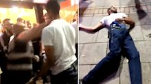Bouncer knocks out reveller with single punch outside nightclub in shocking video