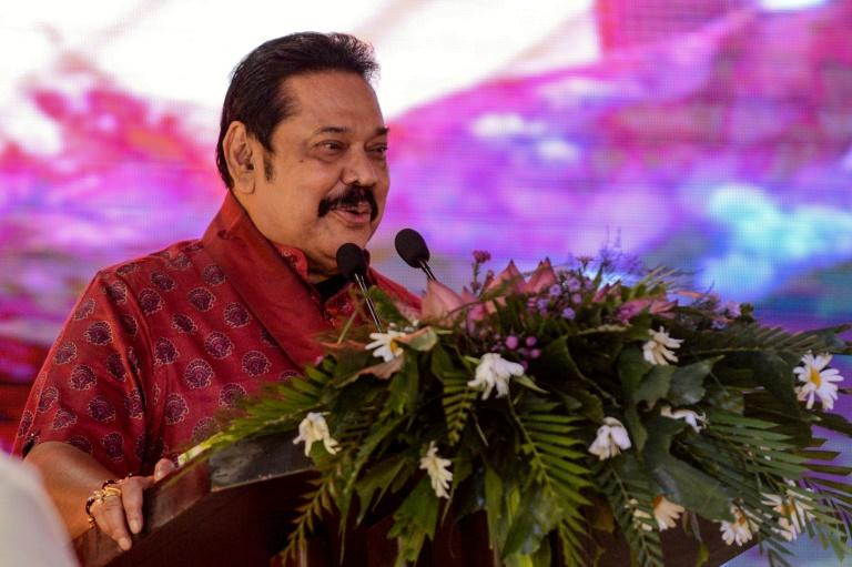 Mahinda Rajapaksa was ousted as president in 2015 after a revolt within his own party (AFP Photo/LAKRUWAN WANNIARACHCHI)