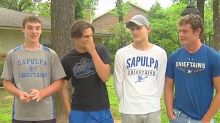 Teenagers just 'looking for something to do' save 90-year-old neighbor from house fire