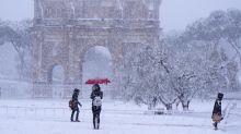 Arriva la neve a Roma