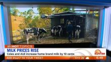 Coles and Aldi join Woolworths in increasing milk price
