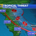 Florida on alert as tropical threat moves toward Bahamas