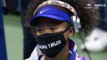 Naomi Osaka makes big statement with US Open mask