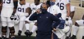 Penn State head coach James Franklin during the second half against Indiana. (AP)
