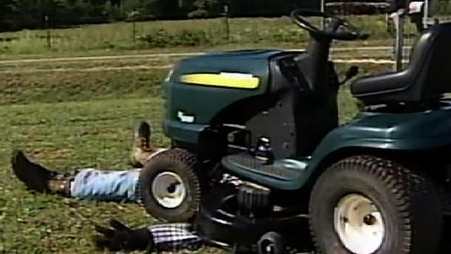 Lawn mower halloween prank gets national attention