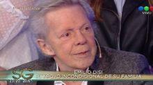 Emilio Disi habló sobre su cáncer de pulmón en el living de Susana: 'Si te deprimís, fuiste'