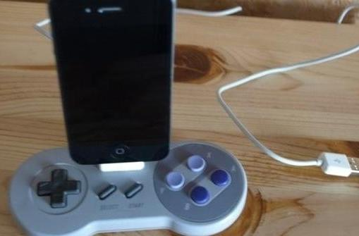 SNES controller and N64 console turned into iPad docks