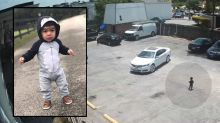 Video shows moments before toddler fatally struck in Houston parking lot
