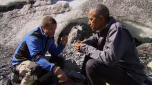 Obama Eats Bear Leftovers on 'Running Wild With Bear Grylls'